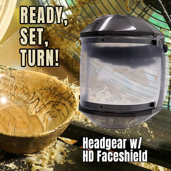 Headgear with HD Faceshield Klingspors Woodworking Shop