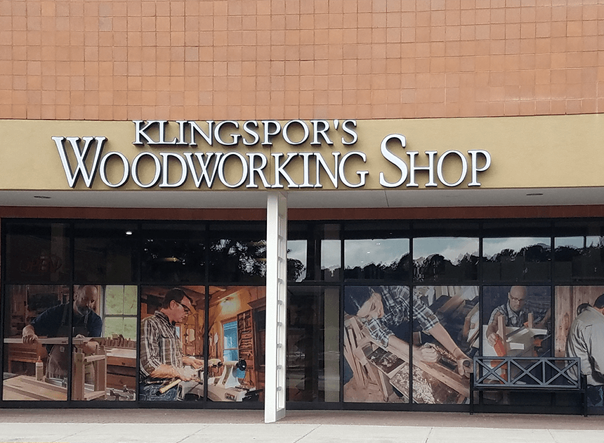 Front of Klingspors Woodworking Shop Retail Store Cary, NC