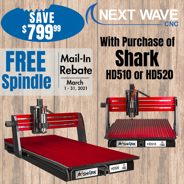 Free Spindle with Shark HD510 or HD520 Purchase Good March 1-31, 2021