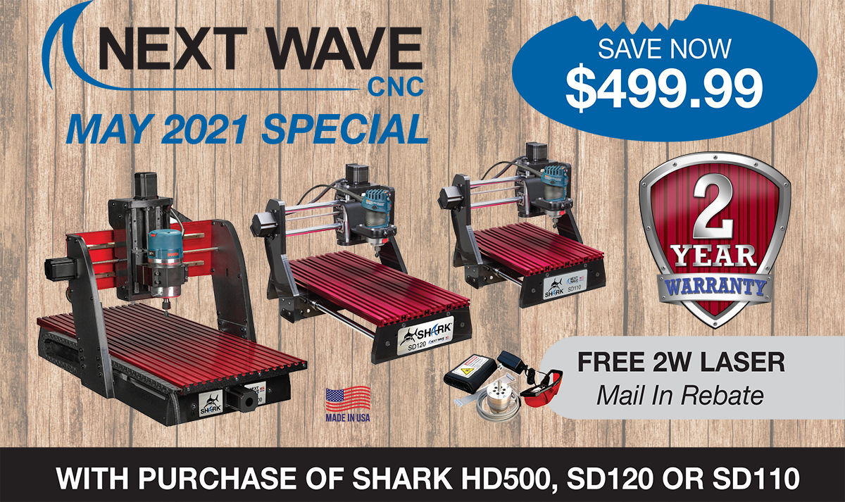 Free 2 Watt Laser with purchase of Shark HD500, SD120, or SD110