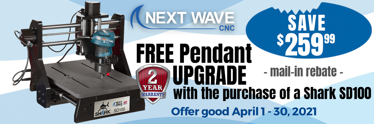 Free Pendant Upgrade with purchase of a Shark SD100 Good April 1-30 2021
