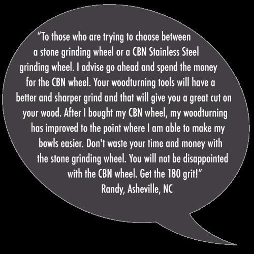 Klingspors Woodworking Shop testimonial CBN stainless steel grinding wheel